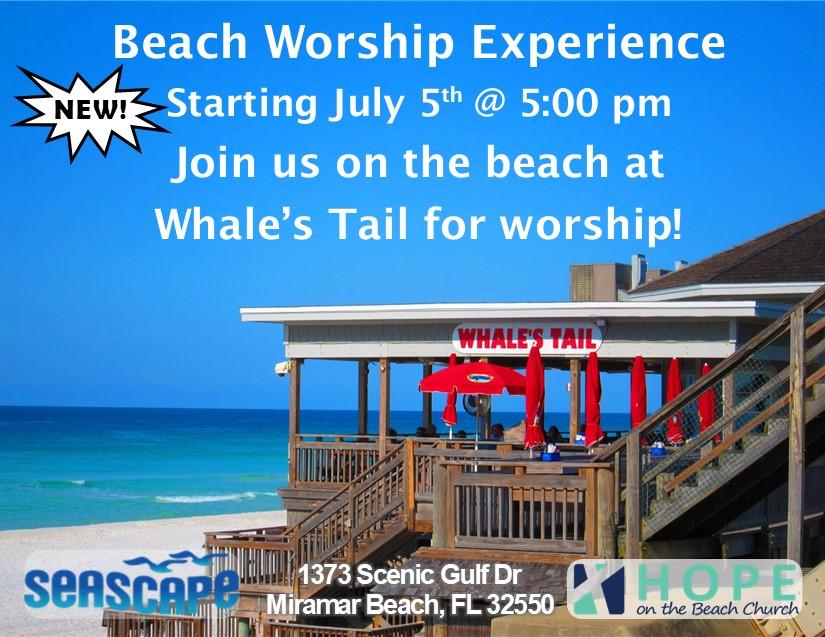 Destin Florida Upcoming Event Beach Worship Experience