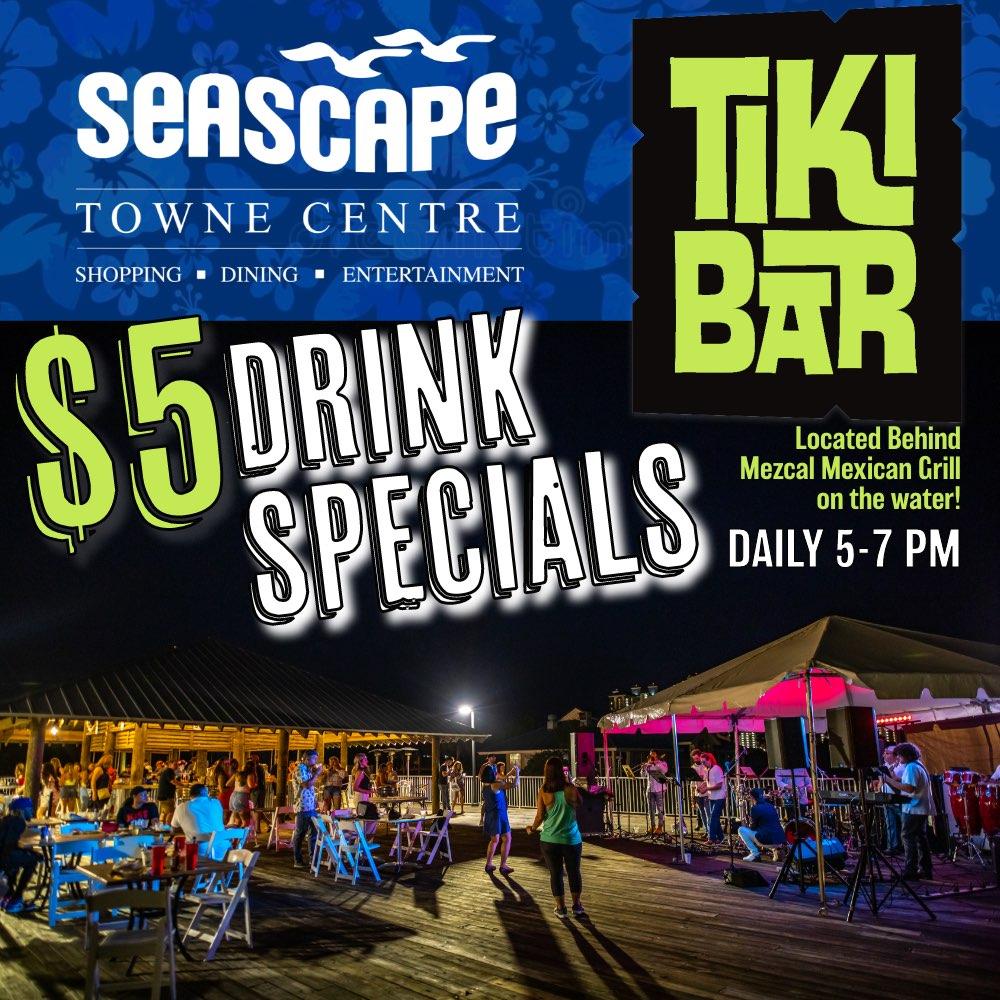 Jul,22 2021 $5 Drink Specials 5-7PM Towne Centre Events Plaza | Seascape Resort Destin Florida Events