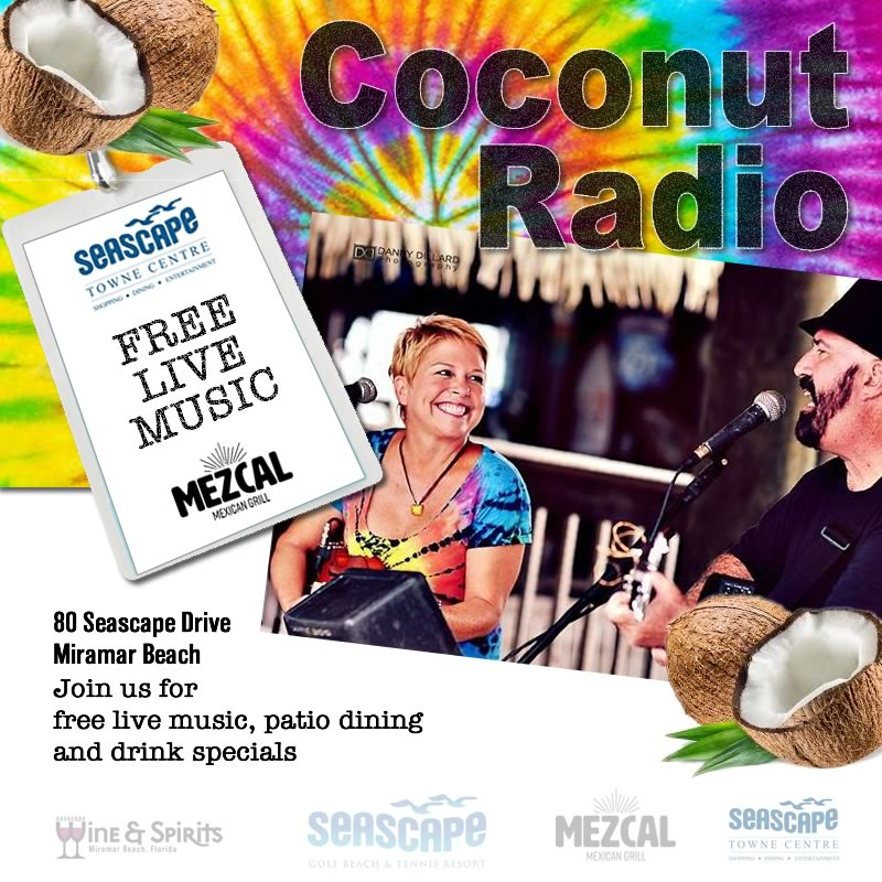 Sep,18 2020 Live Music with Coconut Radio Events Plaza | Seascape Resort Destin Florida Events