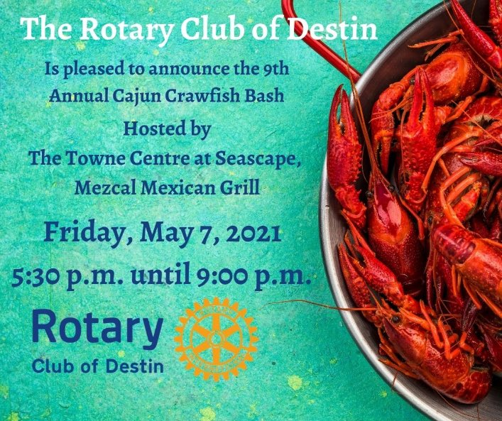 Destin Florida Upcoming Event 9th Annual Cajun Crawfish Bash