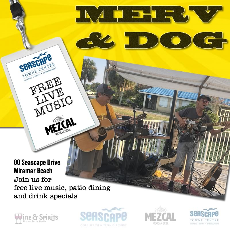 Aug,13 2020 Ladies Night Live Music with Merv & Dog Events Plaza | Seascape Resort Destin Florida Events