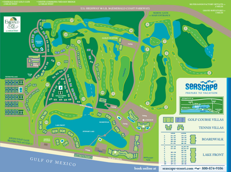 Seascape Resort Map Destin Florida