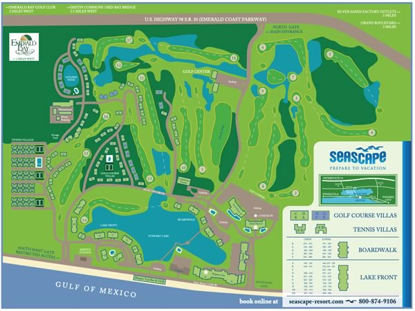 Seascape Resort Destin Map