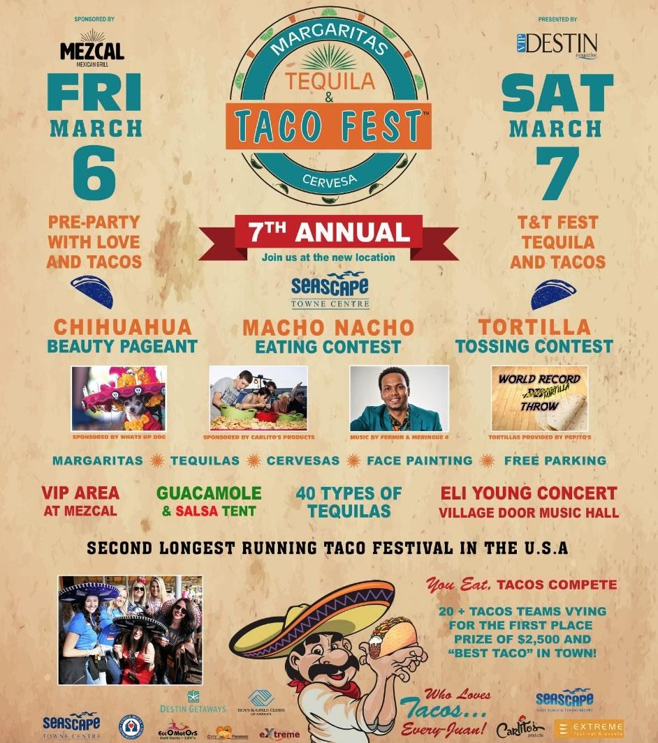 Seascape Destin Tequila & Taco Fest 2020