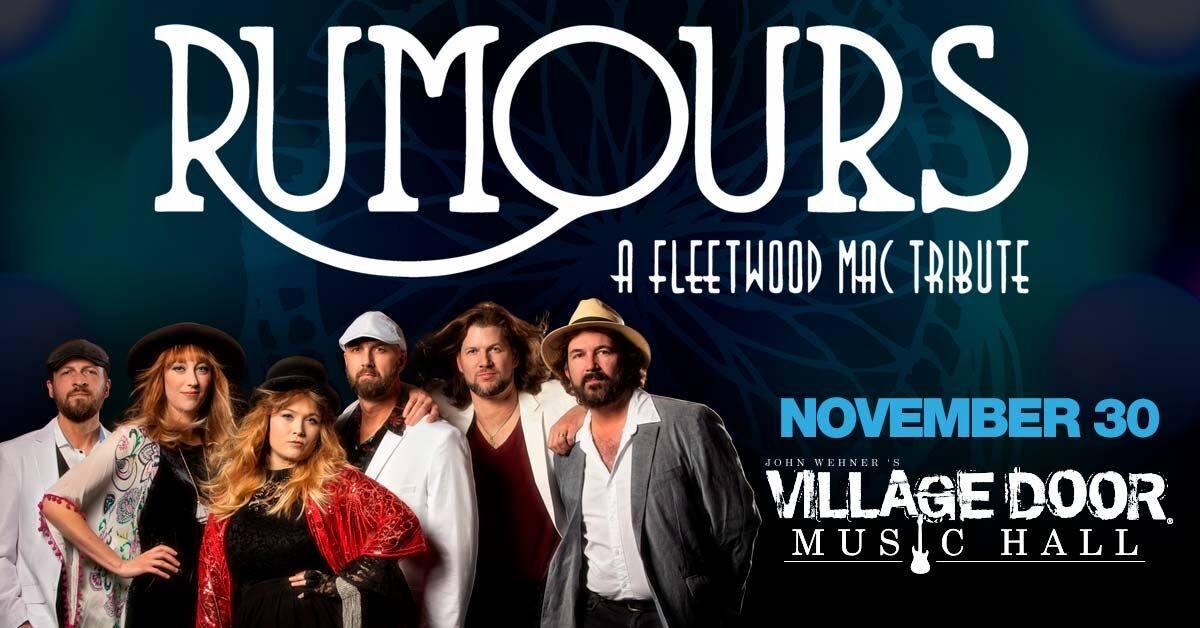 Nov,30 2019 Rumours ATL Village Door Music Hall | Seascape Resort Destin Florida Events